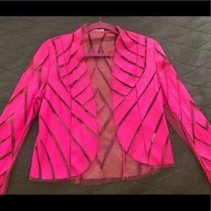 Jackets & Blazers - Hot pink leather jacket